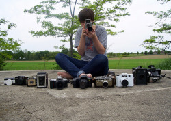 me and my cameras :) by Gracie Cannell on Flickr.