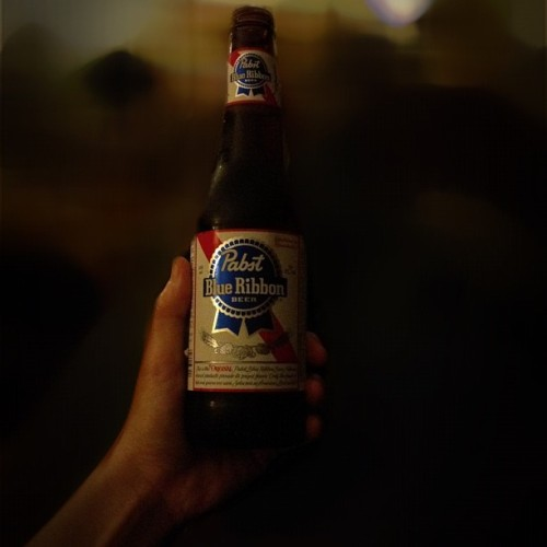 Don't. Judge. Me. #pbr #pabstblueribbon #beer #brew #beerporn (Taken with instagram)