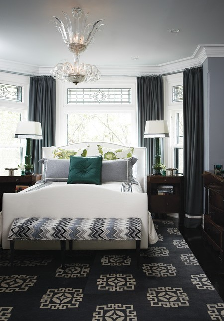 georgianadesign:  Master bedroom in designer Tommy Smythe's Toronto town home.