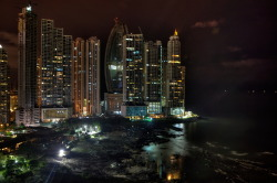 skyscrapers at night: Panama City, Panama.  Source: Gaspar Serrano