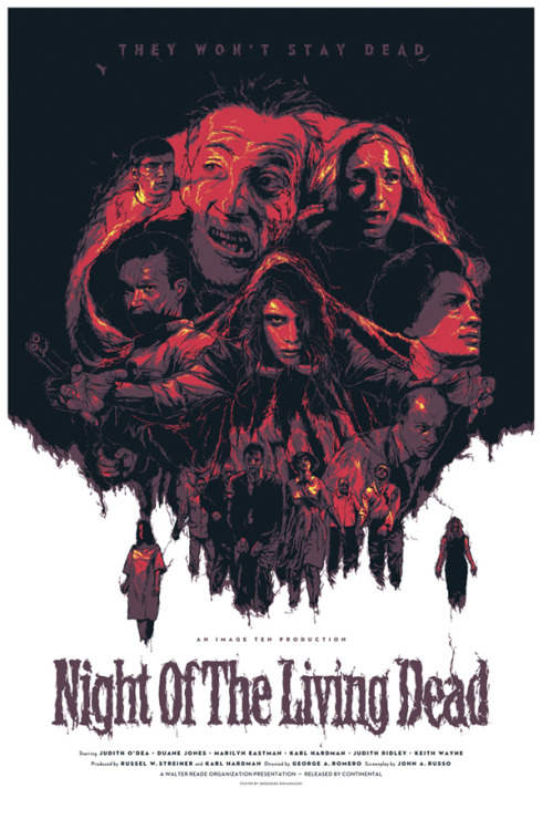 offcolorcommentary:  I deeply enjoy the fact that NIGHT OF THE LIVING DEAD is in the public domain. I wish there was more Horror to enjoy that immensely for free. timelineintime:  Night of the Living Dead - Gzregorz Domaradzki