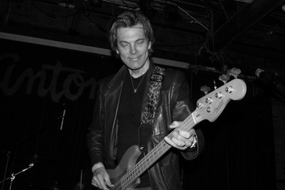 "Yes, I am smiling because I dig playing bass. Especially my Fender bass. No, I don't really think about any other kind of electric bass. For me, if you say, ""electric bass,"" I think ""Fender Precision."" Call me crazy, I don't care."