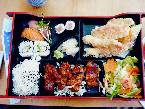 I want some real Asian food. Some real Japanese food. In a bento box.