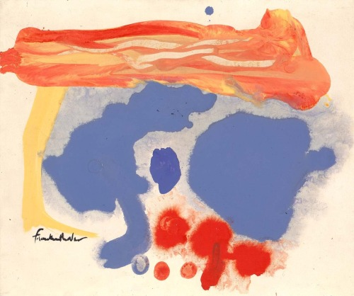 Helen Frankenthaler, Summerscene, Provincetown, 1961. The Smithsonian American Art Museum, Washington DC.