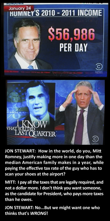 I like how some of the shit Romney says blatantly indicates how out of touch with reality and class issues he really is.