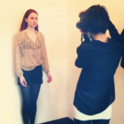 DAY 2 model castings/fittings #nyfw2012  (Taken with instagram)