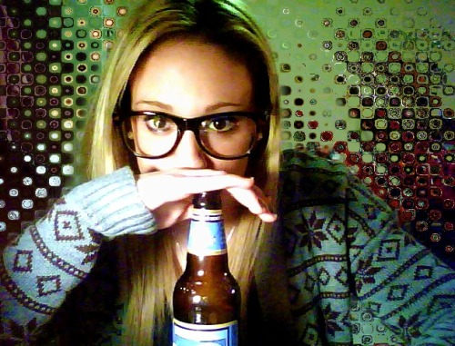neverlookbackinregret:  my wednesday night. blue moon, comfy sweater, and misfits.