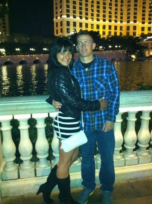 My sweet husband & in Vegas <3