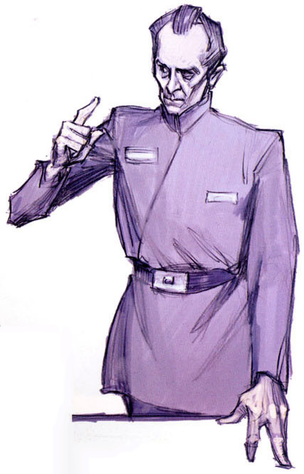 Tarkin by Iain McCaig (Star Wars Prequels concept artist) Have I mentioned how much I love Tarkin?