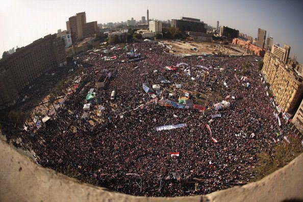 Tahrir square, 25th of January 2012, Egypt revolution 2.0. We are not done yet. Photo by: Jeff J Mitchell Self-orginizing System / A pattern appears from the local interaction of the elements that make up the system.