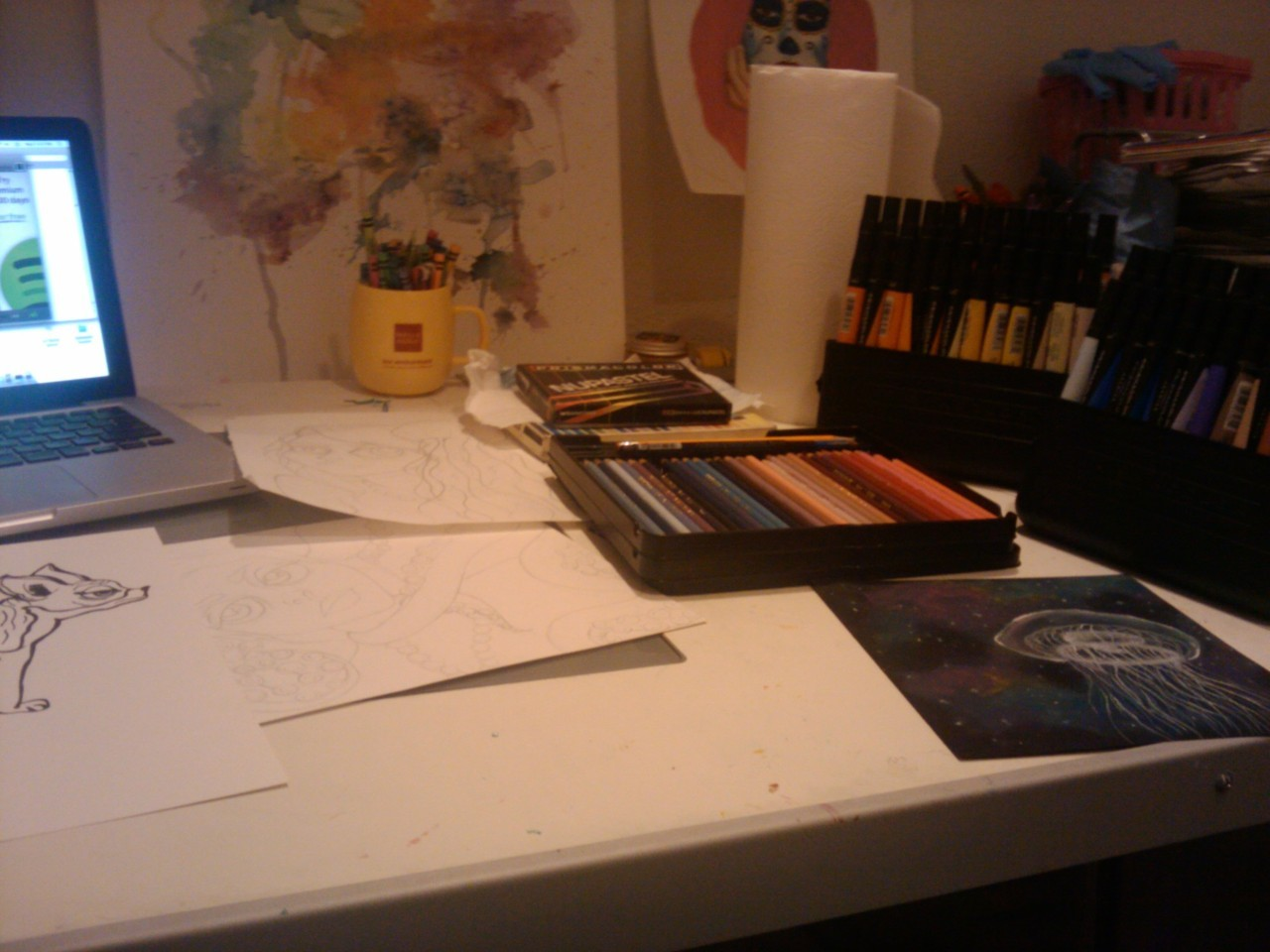 What my studio looks like tonight.