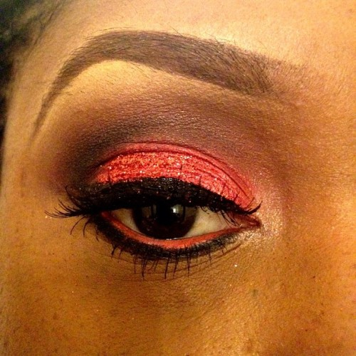 Valentine's Day Look #beauty #eyelashes #inglot #eyeshadow #makeup #mua #eyeliner #love #valentines #glitter (Taken with instagram)