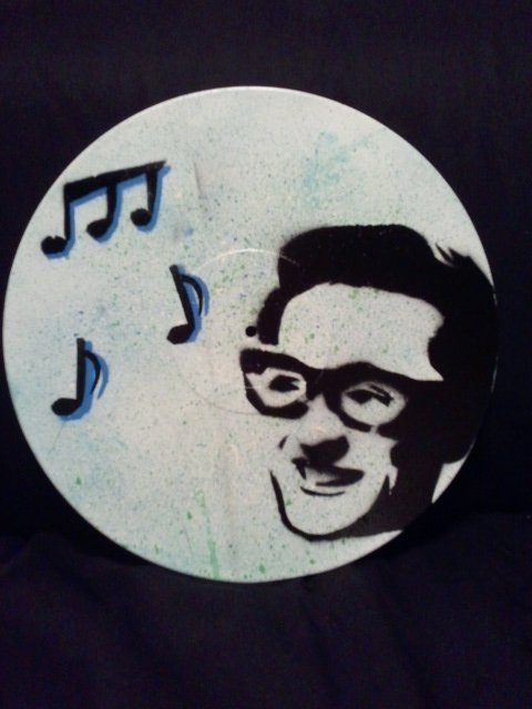 My second attempt at record artwork - Buddy Holly.