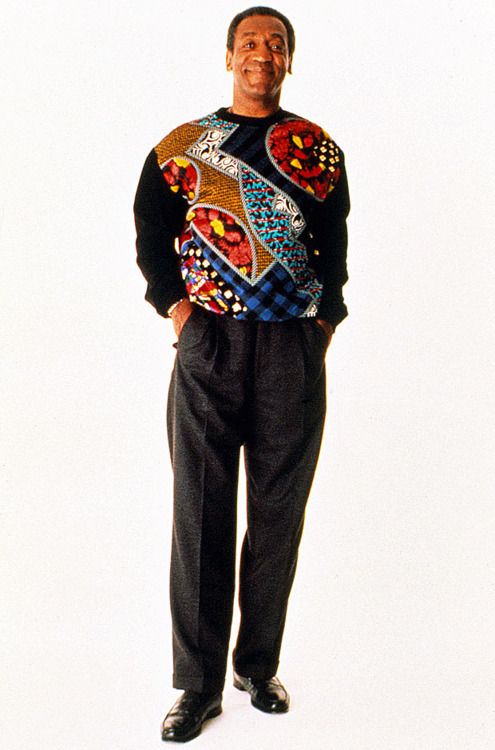 Bill Cosby wearing the one the jumpers he eventually gave to Drake