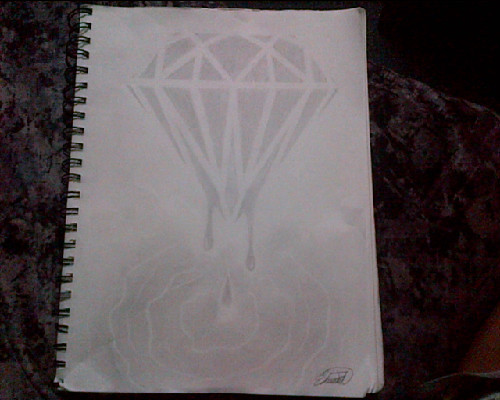 dunno why pics coming out low q :s bam done my blood diamond sketch :) not the greatest but havnt gone n bought new shadin pencils