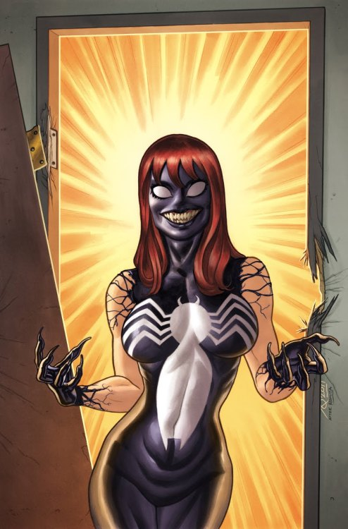 iheartchaos:  Awesome comic book art of the day: Mary Jane Venom By Joe Quinones Via