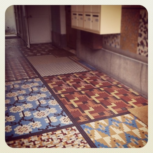 #janphotoaday colour - swanky tiling in a Parisian building (Taken with instagram)