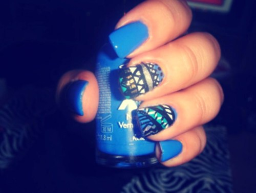 tribal. LOVE this nail polish color ♥