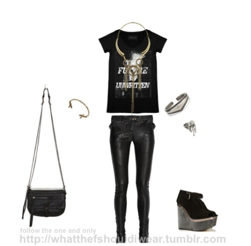 TOP: Your Eyes LieNECKLACE: TopshopPANTS: BalmainCUFFS: Made Her Think, Urban OutfittersRING: TopshopSHOES: TopshopBAG: Deena and Ozzy