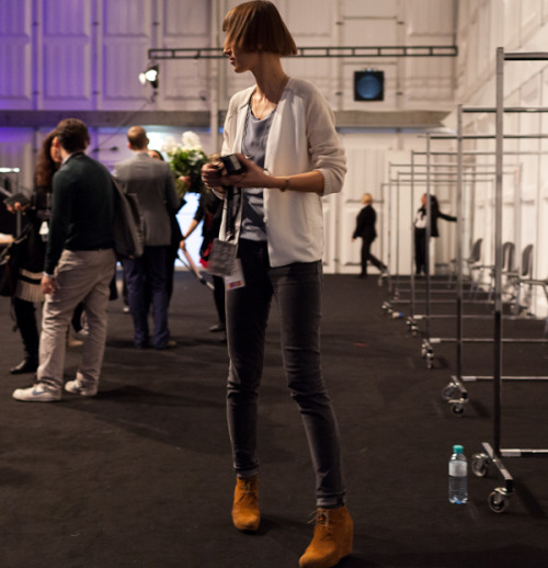 Backstage at Berlin Fashion Week AW 01 2012