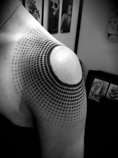 Blackwork shoulder by Manuel Winkler, Clockwork Tattoos.
