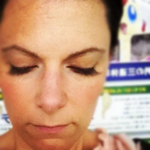 New eyelashes. (Taken with instagram.)