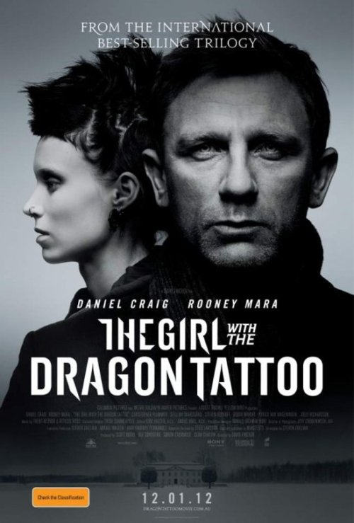 The Girl with the Dragon Tattoo (2011) When I first heard that there was going to be an American film adaptation of the Swedish novel of the same name, I was a bit apprehensive. I mean, the Swedish adaptation The Girl with the Dragon Tattoo (2009) is still quite recent and it's a good film. However, I put my faith in David Fincher (who, in my opinion, is one of the best directors working today) and it paid off. It was really good. I love the way Fincher directs and he's made another brilliant piece of work here. I prefer it to the Swedish version, personally. The entire cast was great and I'm very happy that Rooney Mara has received an Oscar nomination for her role. Snubbed for a nomination, however, were Trent Reznor and Atticus Ross who delivered another brilliant score, like their previous one in The Social Network (2010). I am biased, being a huge fan of Reznor, but I thought it was excellent and gave the film a truly perfect atmosphere and mood. The title sequence that used their cover of Led Zeppelin's Immigrant Song featuring Karen O was orgasmic. I also got a kick out of one of the characters wearing a Nine Inch Nails shirt. I'd forgotten what exactly happened in the Swedish version, so I very much enjoyed watching the story unfold. Yeah, overall, I thought it was an intense, clever, well-made and all around fantastic film.