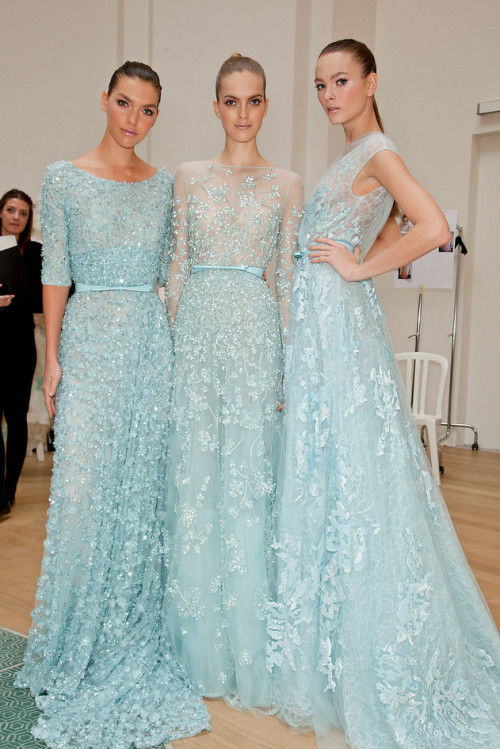 Backstage at Elie Saab Spring 2012 Couture | Paris Haute Couture