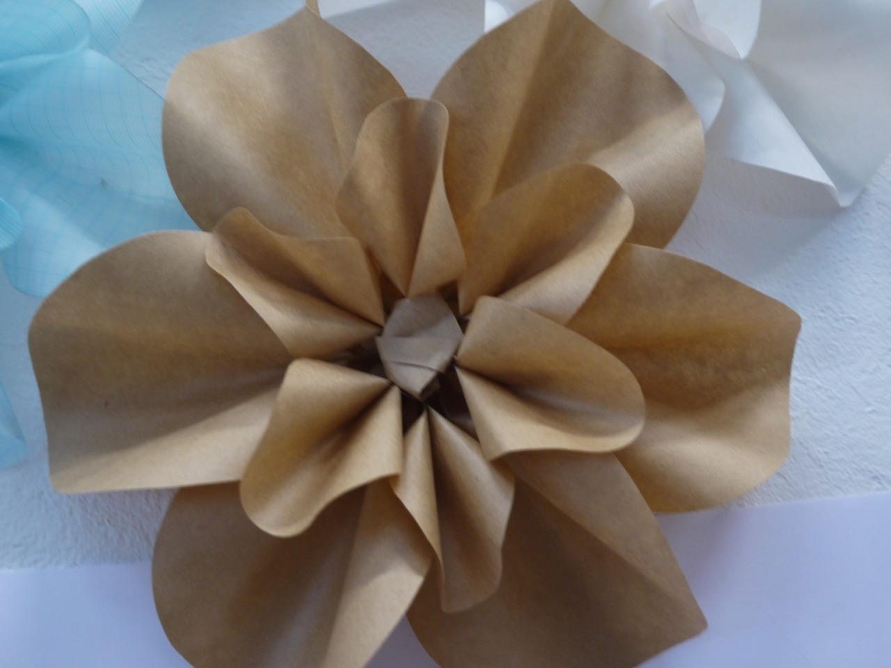Some paper flowers I am making, these will be made interactive with my next Arduino venture!