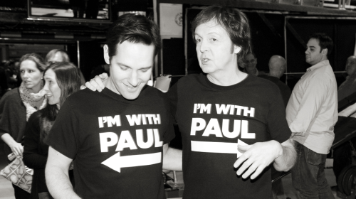 Paul Rudd and Paul McCartney