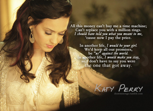 Katy Perry, The One That Got Away Requested by the-backing-track-of-my-life