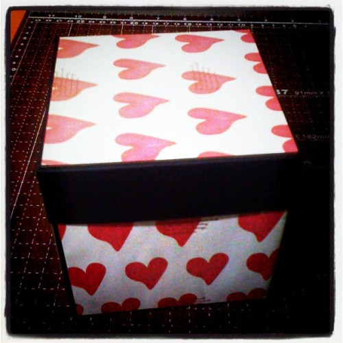 #box #card #cards #exploding box #love #yux #gift #valentine gift #heart (Taken with instagram)