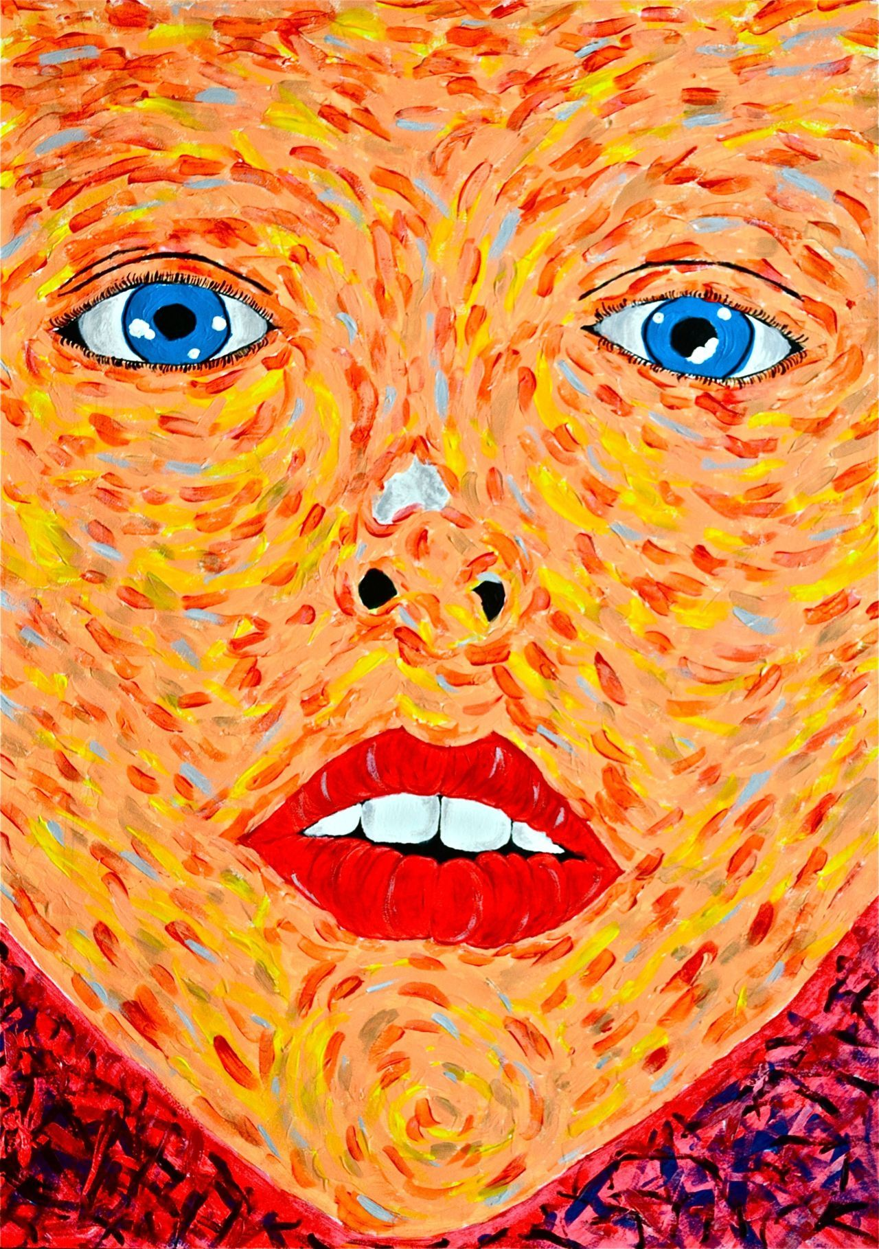 BLUE EYES | by Anthony Bila Acrylic on A2 110 GSM paper. 2011.