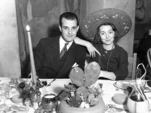 whataboutbobbed:  Ramon Novarro & Colleen Moore attending the birthday party of Jetta Goudal's husband Harold Grieve, February 6, 1933
