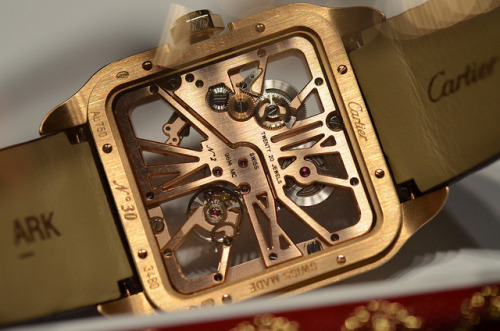 Cartier Santos Dumont Skeleton In Rose Gold on Flickr.