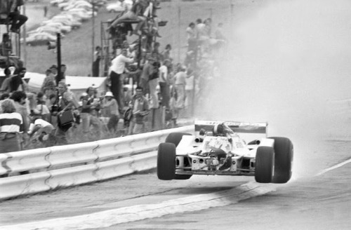 Tom Pryce's unfortunate death, during the 1977's South African GP on the Shadow DN8.