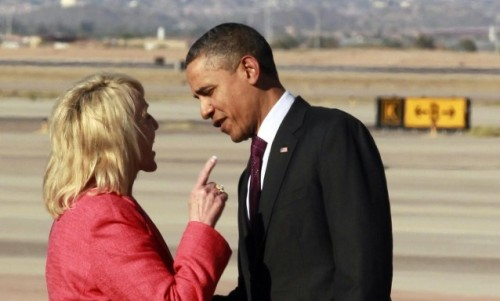 "Jan Brewer vs. Obama: An airport meeting turns into an epic battle She wrote some things in her book he didn't like: The tough-on-immigration Arizona governor, who was not particularly happy with the way the president treated her in a much-talked-about-at-the-time 2010 meeting, wrote about it in her new book ""Scorpions for Breakfast,"" and Obama didn't like what she said. So, last night, when Obama got into Phoenix, this happened. ""I will say that a picture is what it is,"" she said. ""I must say, I was not hostile. I was trying to be very, very gracious. I respect the office of the president, and I would never be disrespectful in that manner."" What we would give to hear that conversation up close. (AP Photo) source Follow ShortFormBlog"
