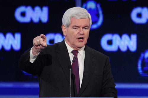 "Is Newt's fire back? Gingrich supporters across the board have cited his fiery presence as making him the best-suited candidate to verbally eviscerate Obama in debates. Has Republican hopefuls' anti-Obama hyperbole guaranteed that this will not be the kind of election Gingrich or anyone else could actually win with a debate? ""This belief may be inextricable from the web of conservative conspiracy theories about Teleprompters and so forth, but for the sake of argument, let's grant the nub of the Gingrich voters' point: The speaker, first-class intellectual or no, is a consistently entertaining presence in the debates, and Obama is somewhat less so. The president was stiff and a bit dour compared to his adversaries in the 2008 primaries; his relative victories in the general election debates had more to do with John McCain's flaws—the anger, the strange wanderings around the stage—than with his own performances."" -Charles Homans, ""Would Newt Out-Debate Obama? It Wouldn't Matter Anyway"" Photo courtesy of Christian Science Monitor"