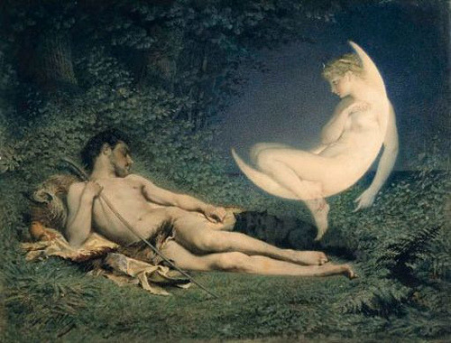 Selene and Endymion by Victor Florence Pollet