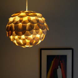 Gorgeous artichoke paper lanterns made from old books by designer Allison Patrick.