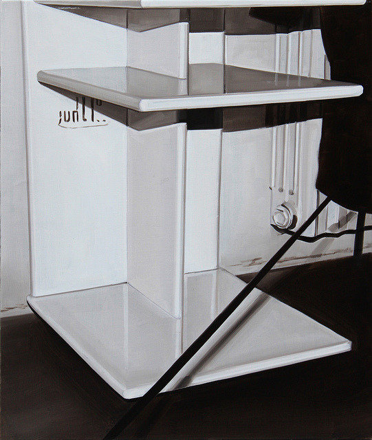 Untitled (cart), 2012, oil on canvas, 65 x 55 cm.
