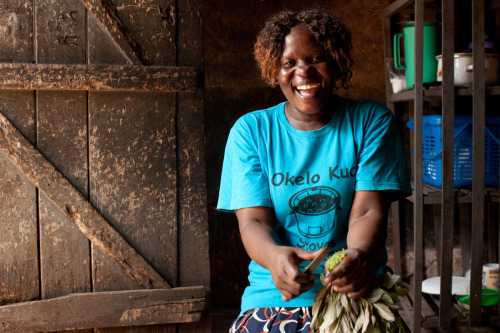 """I am paying school fees, and they are eating well and are healthy."" Betty Willobo speaks of her 3 sons and what she has been able to provide through her job as a stove vendor. Learn more at www.theadventureproject.org."