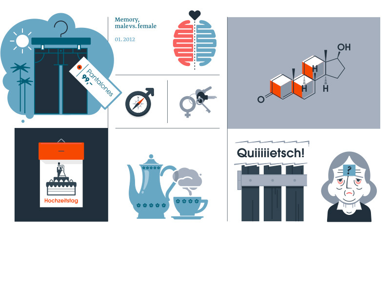 Set of simple illustrations for Vigo Magazine.