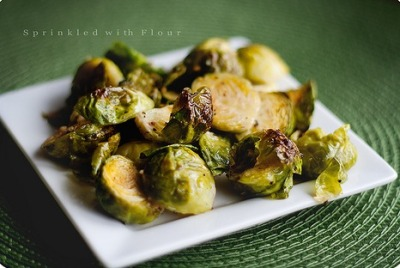 gastrogirl:  crispy garlic roasted brussels sprouts.