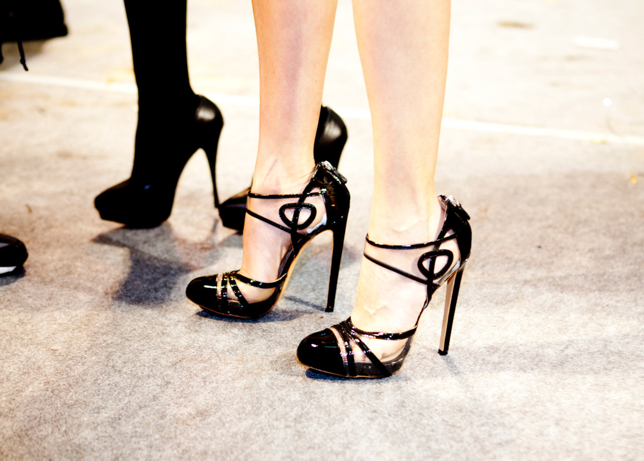 allthe-prettythings:  Shoes at Versace Spring 2012 Couture