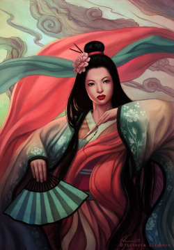 onisushi:  Geisha (via Birthday Geisha by *Viccolatte on deviantART)