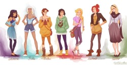 hipster ladies of disney