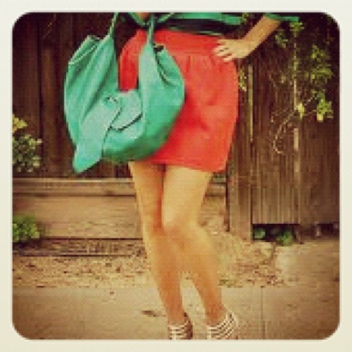 Color blocking! #fashion #stripes #colorblock #louboutins (Taken with instagram)