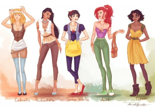 Hipster Disney Princesses: Like, so relevant.