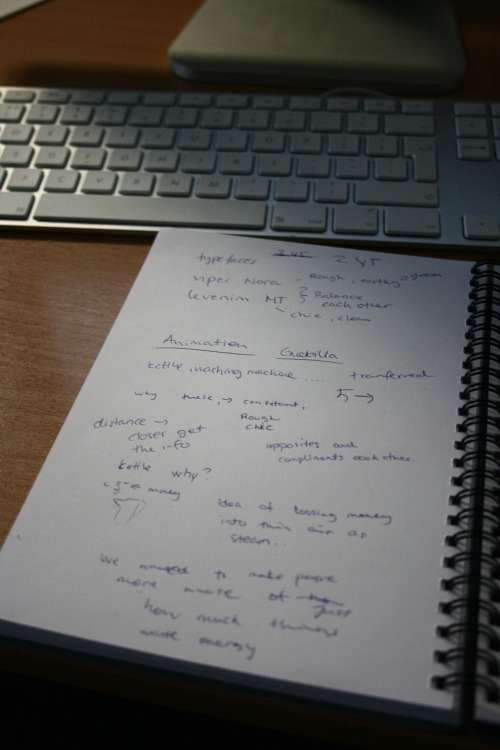 Notes.. Anoter day at the project, the day we had to do the final presentation..